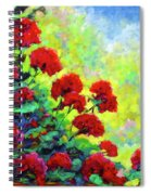 Cascade Of Geraniums Spiral Notebook