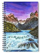 Cascades In Patagonia Painting Spiral Notebook