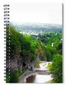 Cascadilla Gorge Cornell University Ithaca New York Panorama Spiral Notebook