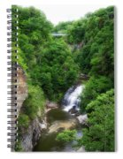 Cascadilla Waterfalls Cornell University Ithaca New York 01 Spiral Notebook