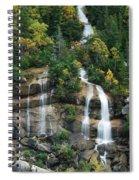 Cascading Skagway Waterfall  Spiral Notebook