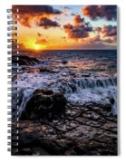 Cascading Water At Sunset Spiral Notebook