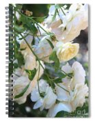 Cascading White Roses Spiral Notebook