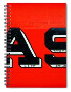 Case Tractor Nameplate Spiral Notebook
