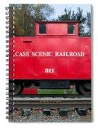 Cass Red Caboose Spiral Notebook