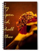 Cast Thy Burden Upon The Lord Spiral Notebook