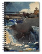 Casting In The Falls Spiral Notebook