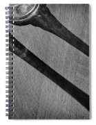 Casting Shadows Black And White Spiral Notebook
