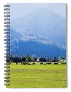 Castle And Cattle Spiral Notebook