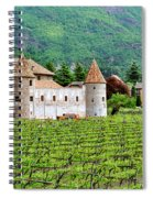 Castle And Vineyard In Italy Spiral Notebook