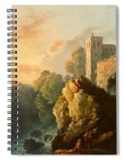 Castle And Waterfall Spiral Notebook