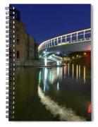Castle Bridge A By Night Bristol England Spiral Notebook