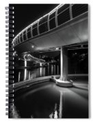 Castle Bridge B By Night Bristol England Spiral Notebook