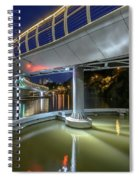 Castle Bridge C By Night Bristol England Spiral Notebook
