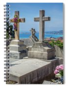 Castle Hill Graves Overlooking Nice, France Spiral Notebook