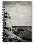 Castle Hill In Black And White Spiral Notebook