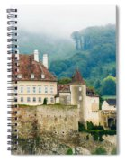 Castle In The Mist Spiral Notebook
