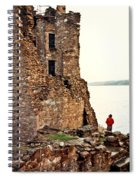 Castle Ruins On The Seashore In Ireland Spiral Notebook