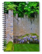 Castle Wall At The Highlands Spiral Notebook