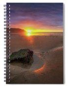 Caswell Bay Sunrise Spiral Notebook