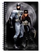Cat And Bat Spiral Notebook