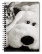 Cat And Dog In B W Spiral Notebook