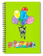 Cat And Fish Friend Spiral Notebook