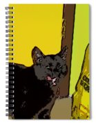 Cat And Rice Spiral Notebook