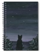 Cat And The Stars Spiral Notebook