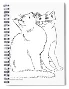 Cat-art-curious Spiral Notebook