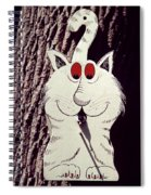 Cat Bird House With Bird Spiral Notebook