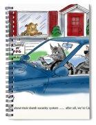 Cat Burglers Spiral Notebook