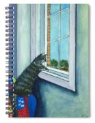 Cat By The Window Spiral Notebook