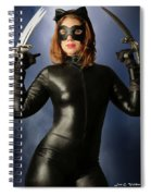 Cat Claws And Mask Spiral Notebook
