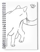 Cat-drawings-black-white-2 Spiral Notebook