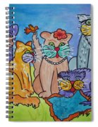 Cat Family Gathering Spiral Notebook