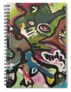 Cat Fight Spiral Notebook