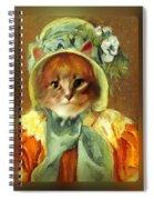 Cat In Bonnet Spiral Notebook