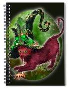 Cat In Fancy Witch Hat 2 Spiral Notebook