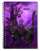 Cat In Goth Witch Hat Spiral Notebook