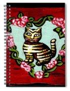 Cat In Heart Wreath 2 Spiral Notebook