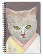 Cat In Kimono Spiral Notebook