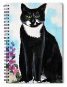 Cat In The Garden Spiral Notebook