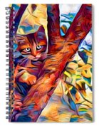 Cat In Tree Spiral Notebook