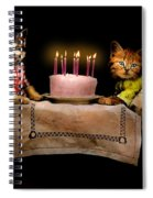 Cat - It's Our Birthday - 1914 Spiral Notebook