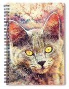 Cat Kiara Spiral Notebook