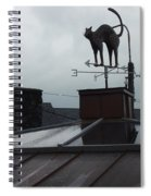 Cat On A Cool Tin Roof Spiral Notebook