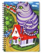 Cat On A Red Tin Roof Spiral Notebook