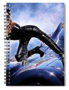 Cat On Bat Mobile Spiral Notebook