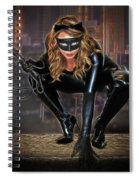 Cat On The Prowl Spiral Notebook